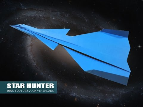How to make a Paper Airplane - EASY PAPER  PLANE that Flies FAST | Star Hunter
