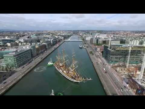 The Amerigo Vespucci Tall Ship Departing Dublin City