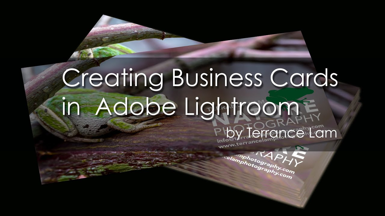creating business cards in lightroom e0007 youtube