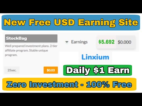 Per Click 0.03 | Free USD Earning Site 2020 | New Free Bitcoin Earn Site 2020 | Linxium Review