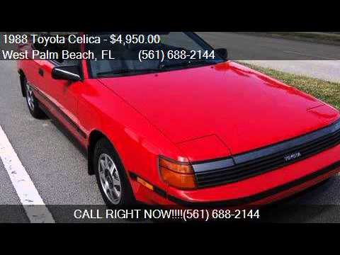 1988 toyota celica gt 2dr convertible for sale in west palm youtube rh youtube com 85 Celica 91 Celica