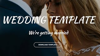 Bootstrap Wedding Template - Free HTML Website Templates