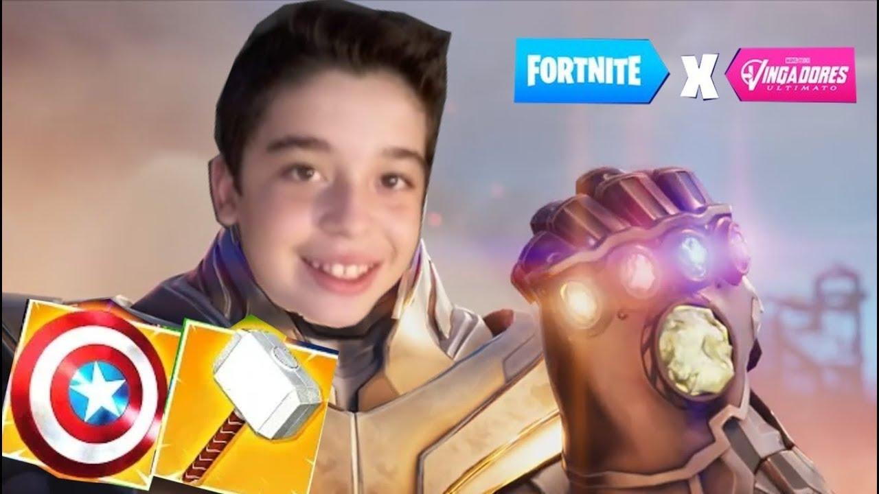 Jogando Minha Primeira Partida Fortnite Ultimato Contra O Thanos