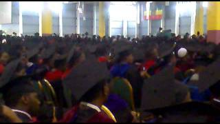 Addis Ababa University Graduation Ceremony in 2012 at Millenium Hall