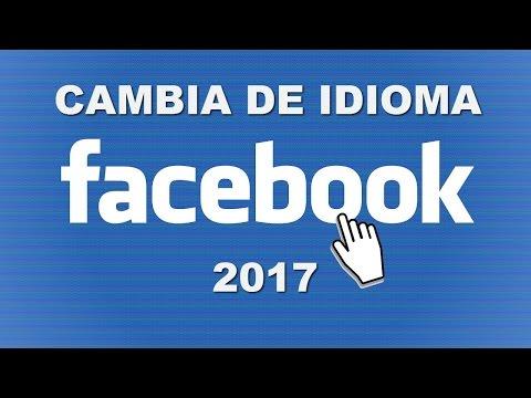 como cambiar el idioma de facebook  a español
