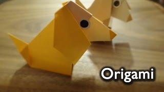 Origami Dog easy / 折り紙 犬 折り方