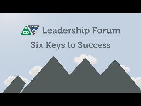 CDOT Leadership Forum 2016_04 Six Keys to Success