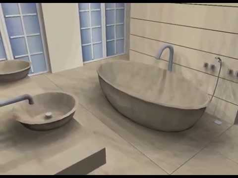 Luxus Bad , Sandsteinfliesen   Planung: Www.RaumPlanung Muc.de