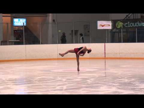 25 Angelina KUCHVALSKA Junior Ladies SP Warsaw CUP 2013