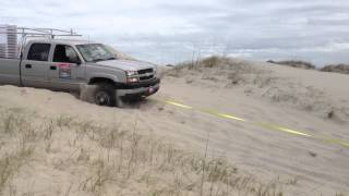 4X4 Carova Beach delivery service, Truck is stuck!