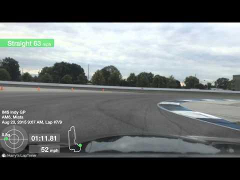 Indianapolis Motor Speedway Grand Prix Circuit Road Course In Car Miata MX-5