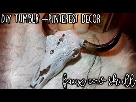 DIY Tumblr + Pinterest Decor   Faux Cow Skull