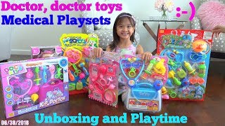 Kids&#39 Medical Doctor Pretend Playtime with Hulyan and Maya. Doctor&#39s Equipment Plays ...