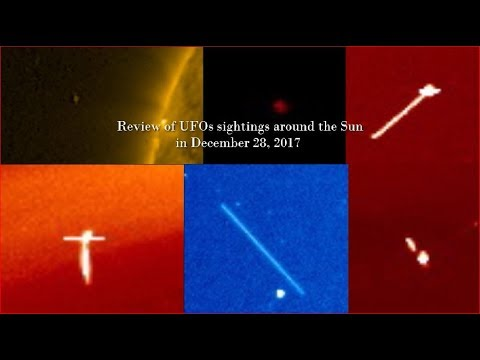 nouvel ordre mondial | Review of UFOs sightings around the Sun in December 28, 2017