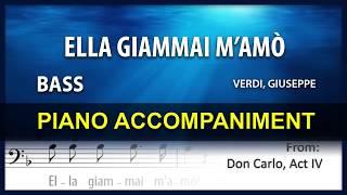 Ella Giammai M'amò Karaoke Giuseppe Verdi Bass