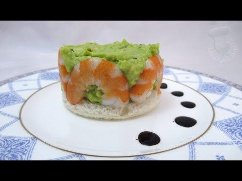recette-de-charlotte-de-crevettes-à-l'avocat-et-pamplemousse