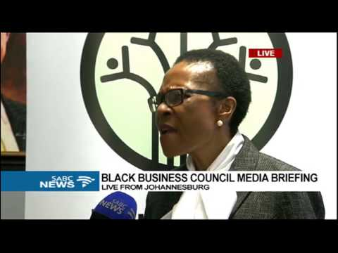 Black Business Council briefs media in Johannesburg