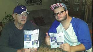 Surprising Grandpa With CUBS Tickets!