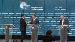 European Council: extracts of the press conference