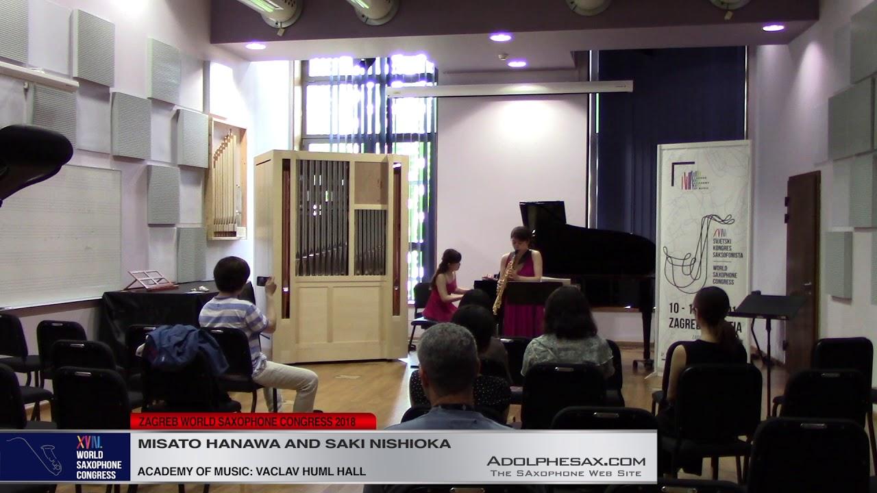Romance by Alexander Scriabin   Misato Hanawa & Saxi Nishioka   XVIII World Sax Congress 2018 #adolp