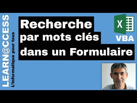 VBA Excel - Comment réaliser des Recherches par Mots Clés dans un formulaire.