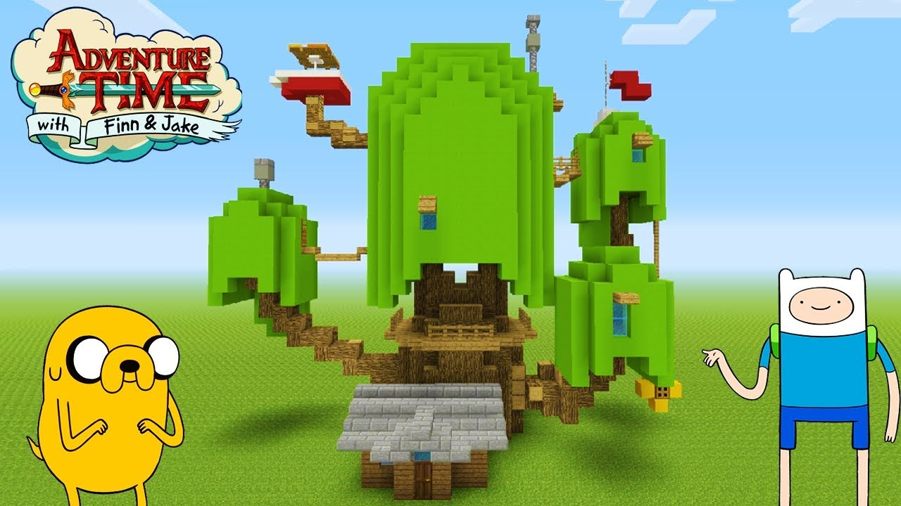 """Minecraft: How To Make Finn and Jakes Tree House """"Adventure Time Treehouse"""""""