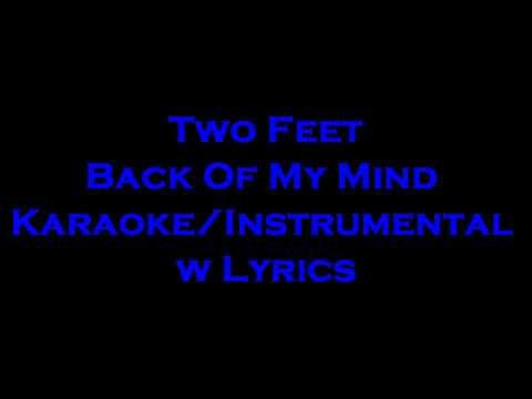 Two Feet - Back Of My Mind KaraokeInstrumental w