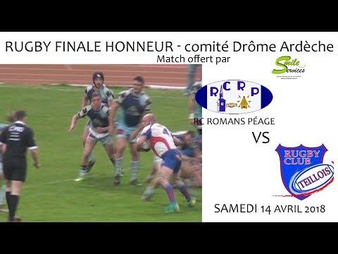 2018 04 14 Rencontres Sportives   Rugby Finale Honneur   RC ROMANS PEAGE vs RC TEILLOIS