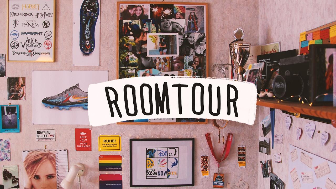 ROOMTOUR | ich zeige euch mein Zimmer ♥ - YouTube