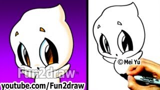 How to Draw Halloween Stuff - How to Draw a Ghost EASY - Drawing Step by Step - Fun2draw