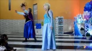Frozen mix de apresentações de personagens vivo magia das festas