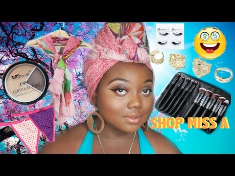 $1 SHOP MISS A BEAUTY DEMOS  |  MAKEUP BRUSHES COMPETITION!!! | EYELASHES, JEWELRY, SCARVES & MORE!!