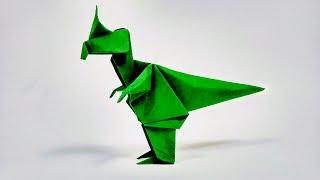 Cómo hacer un dinosaurio fácil de origami | Como fazer um dinossauro de origami fácil