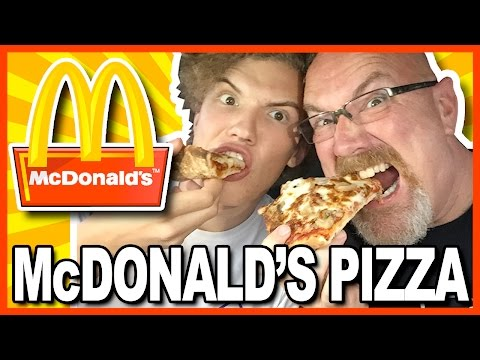 McDonald's PIZZA Review in Pomeroy, Ohio USA with Ken & Ben   KBDProductionsTV