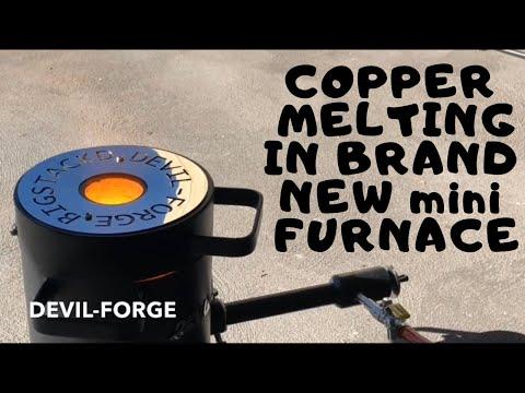 Devil-Forge Copper Melting with Brand New FB1Sb 4KG Furnace + Set Up