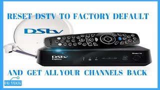 HOW TO RESET YOUR DSTV TO FACTORY DEFAULT AND GET ALL YOUR CHANNELS screenshot 2