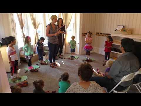 Suzuki Violin Masterclass #1 with Julie Threatte at Bloom Montessori