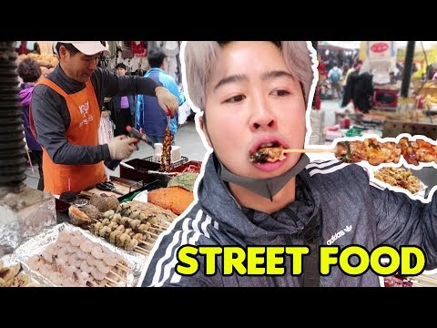 Korean STREET FOOD 馃嚢馃嚪 | Namdaemun Market