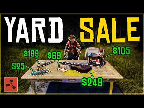 Running a YARD SALE and SELLING our LOOT - Rust Shop Roleplay thumbnail