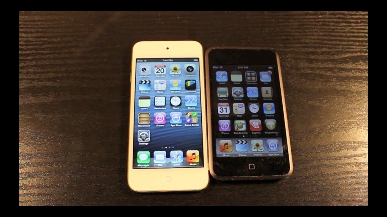 iPod Touch 5th Gen vs 1st Gen - YouTube