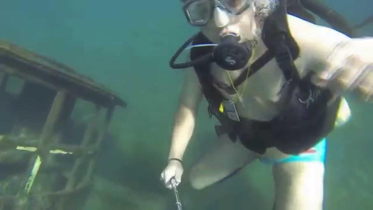 scuba diving  rio quente hot river brazil youtube