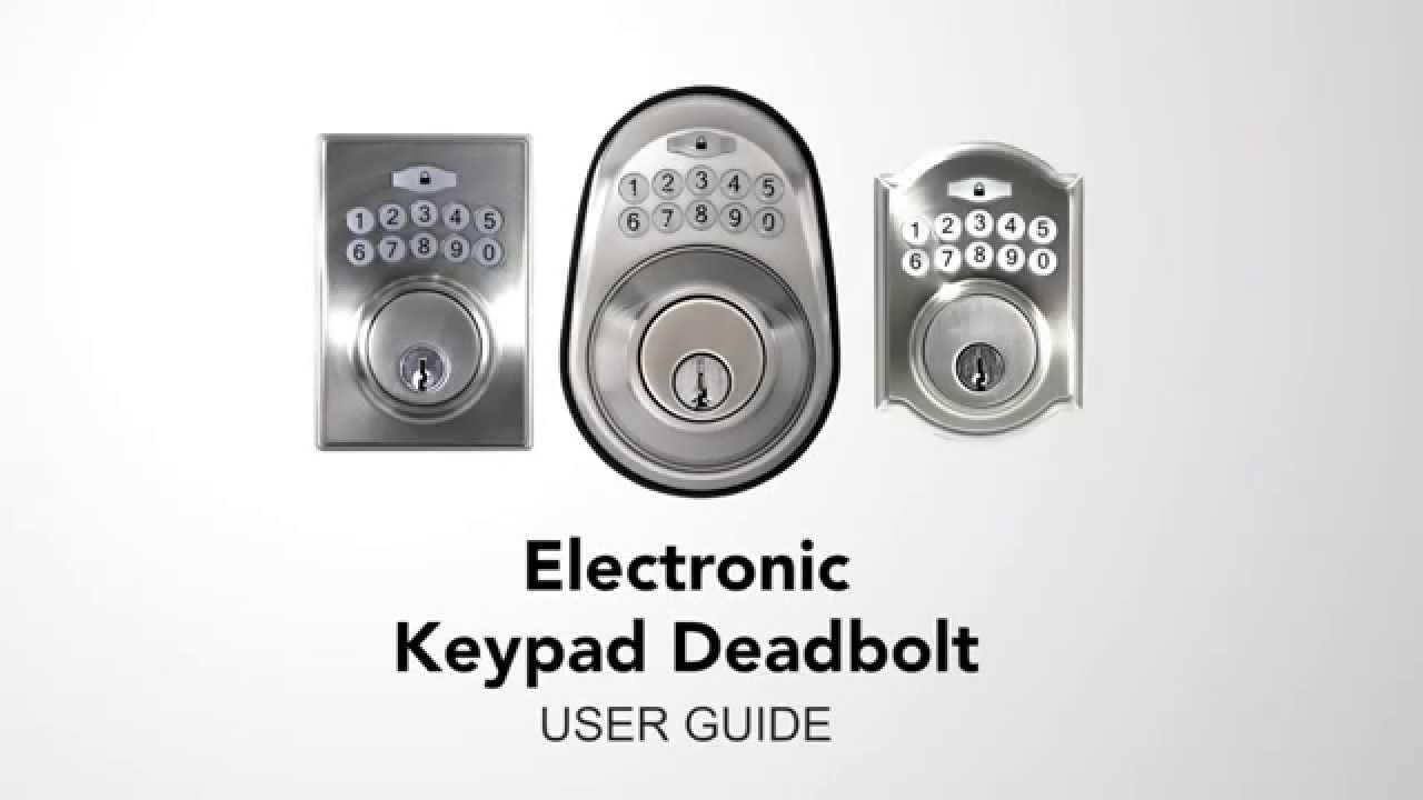 Electronic Keypad Deadbolt Programming Youtube