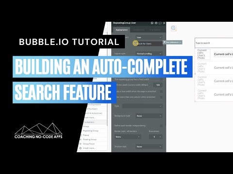 Building An Auto-Complete Search Feature On Bubble.is
