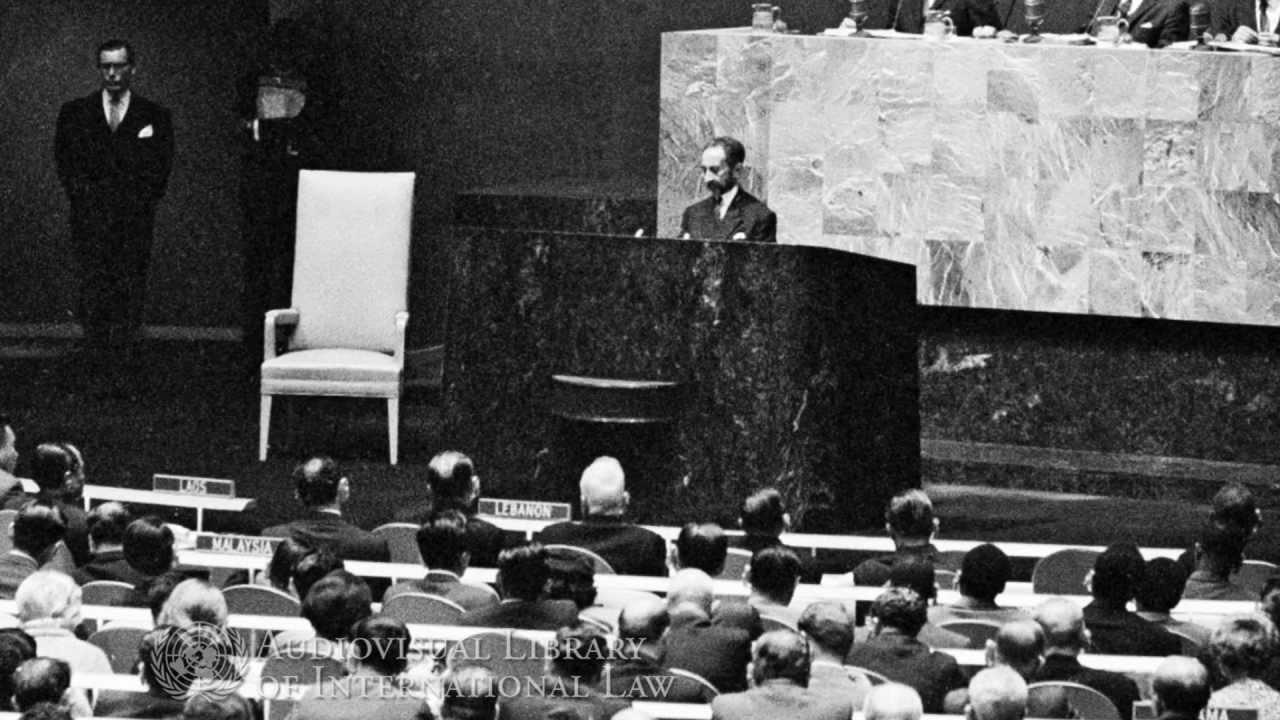 Image result for haile selassie speech at united nations""