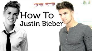 Justin Bieber hair style - tutorial how to style like Justin Bieber