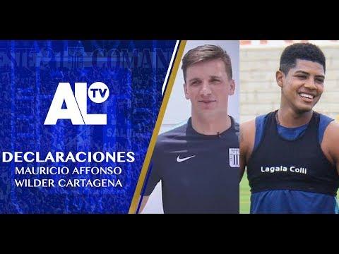 Declaraciones Muaricio Affonso y Wilder Cartagena ALIANZA LIMA TV