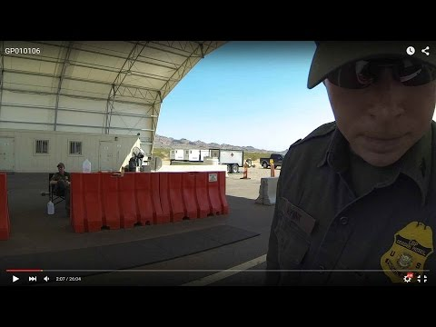 The Eye is Watching - DHS Checkpoint Refuses to Blink, U.S. Border Patrol Terrorist Stop, GP010106