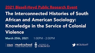 Histories of South African and American Sociology: Knowledge in the Service of Colonial Violence