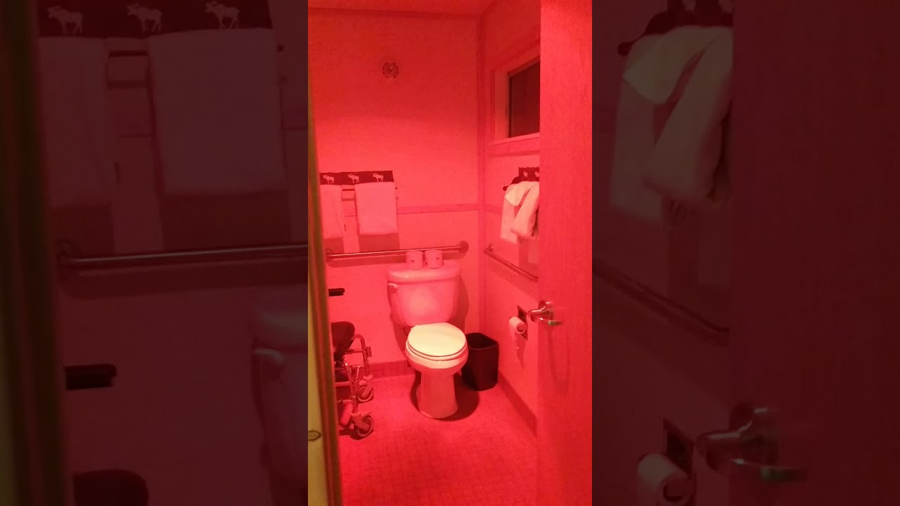 Handicap Bathroom Comedy david lynch-esque accessible bathroom at yellowstone - youtube