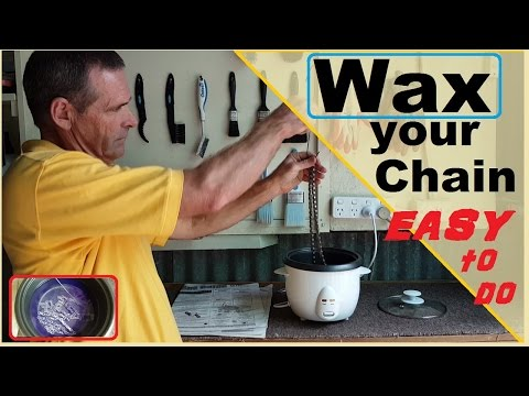 Wax your chain - best lube ever !